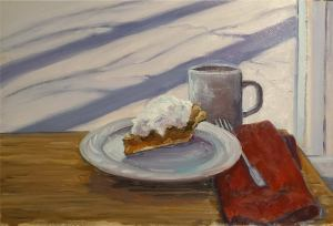 """Pie and a Cup of Java on a Winter's Day in Auburn, New York"" by Tom Huseey"