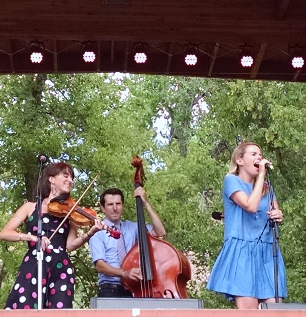 Boston-born chamber grass ensemble Crooked Still reunited for a rare set at Rockygrass.