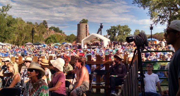 The peaceful setting of the Rockygrass Festival as seen from the stage.