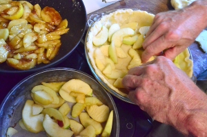 Bake an apple pie worthy of matching with a great aged Cheddar. Hands by John Lehndorff. Photo courtesy of Danny Lanka