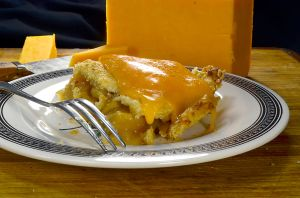 Fresh-baked apple pie and cheddar cheese: An iconic combination. (Pie by John Lehndorff; photo courtesy of Danny Lanka)