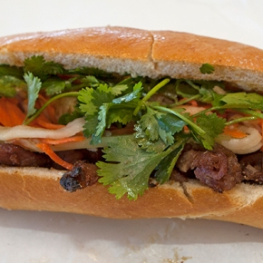 Checking out fava beans, banh mi, n'duja, SPAM and Alice BToklas