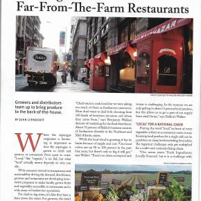 Sourcing local produce for far-from-the-farm cityrestaurants