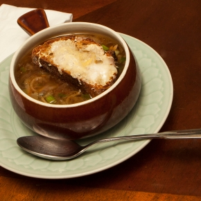Mindfulness meets deliciousness in ugly onionsoup