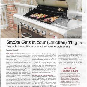 Easy Grilling (or smoke gets in your chicken thighs)